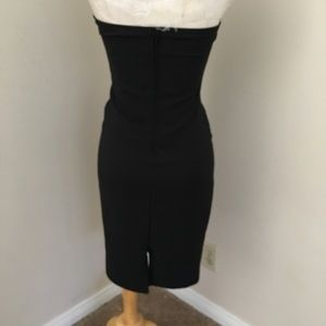 Charlotte Russe Dresses - NWOT black classy midi dress button up front